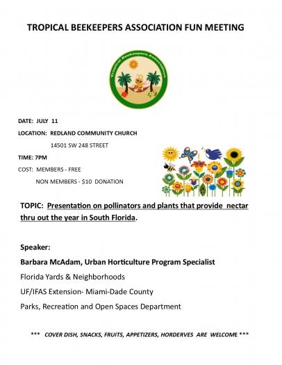 pollinators, Tropical Beekeepers Association, UF/IFAS