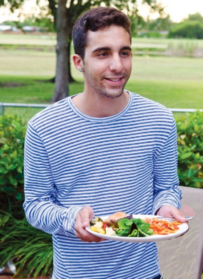A.J. Roca tested recipes for college-bound students