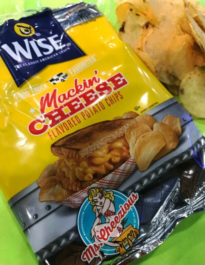 Ms. Cheezious Mackin' Cheese potato chips from Wise