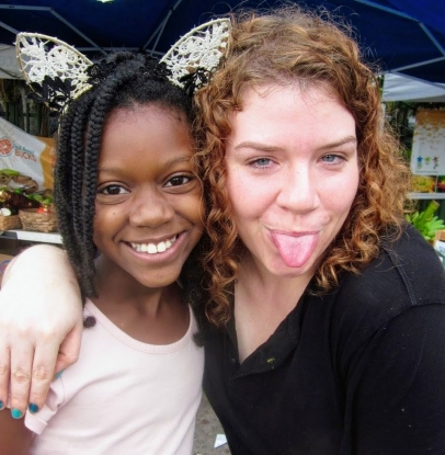 Jessica Zendell (right) with Samadhi Richardson (Photo: Urban Oasis Project)