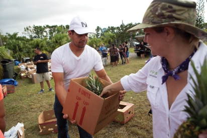 Karla Dascal of Paradise Farms at their relief drive for farmworkers