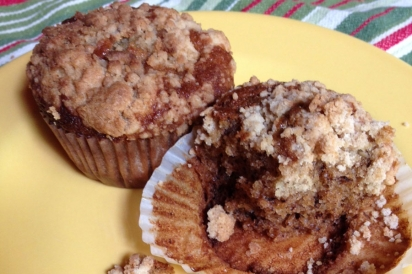 Banana allspice muffins