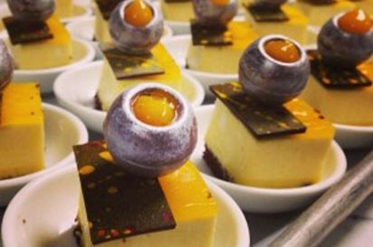 Bachour's Passion mousse cake