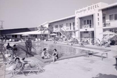 The Vagabond Motel pool 1955