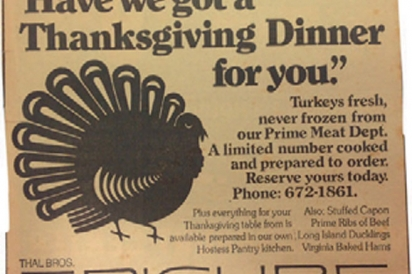 Thanksgiving at the Epicure Market