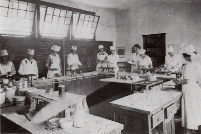 Vintage Interior Photo of the Redland Farm Life School