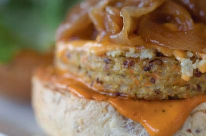 Green Bar + Kitchen's Smokehouse burger