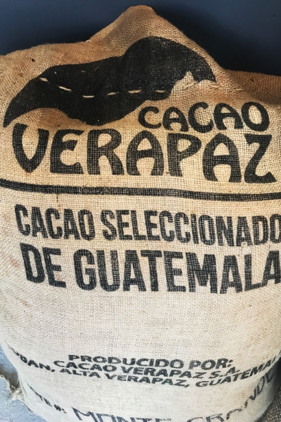 Sack of beans from Cacao Verapaz, Guatemala