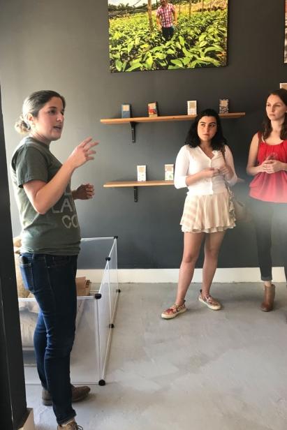 Quijano explains why she buys fair trade chocolate