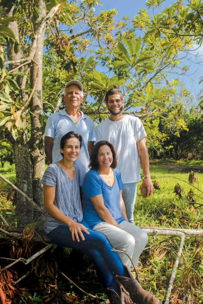 Marc, Levi, Adena and Kiki Ellenby at their family farm