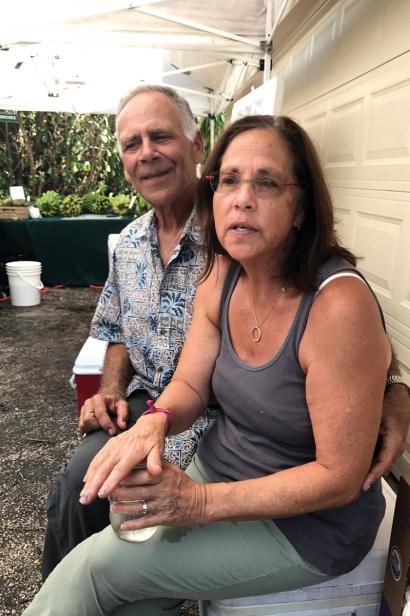 Marc and Kiki at post-Irma pop-up