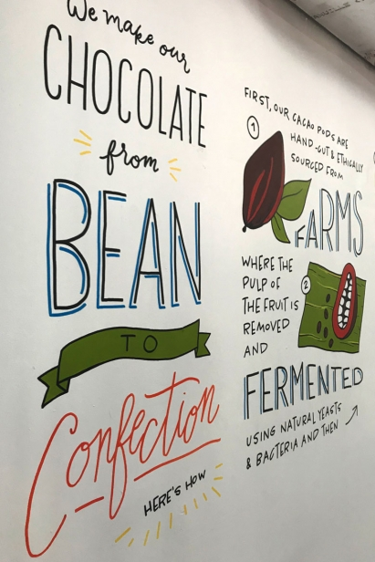 Chalk and Brush illustrated the story of bean-to-bar cacao