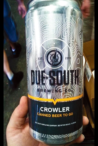 The Crowler, 32 ounces of beer