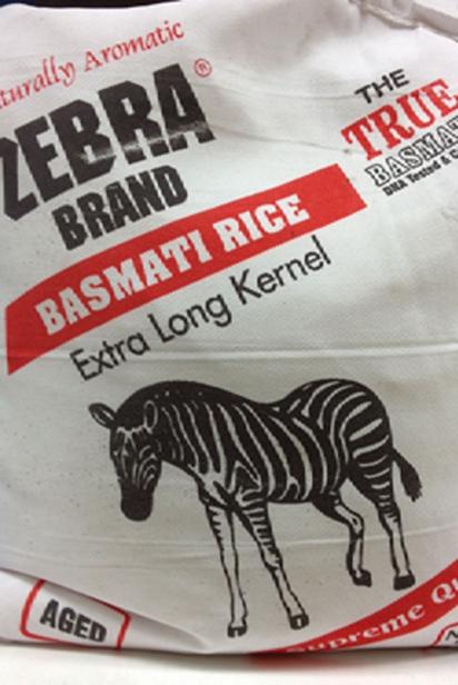 Sack of basmati rice