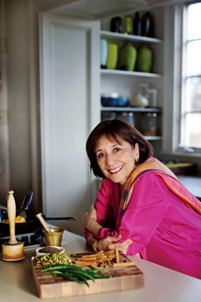 Prolific cookbook author and actress Madhur Jaffrey