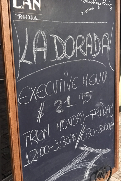 La Dorada specializes in seafood