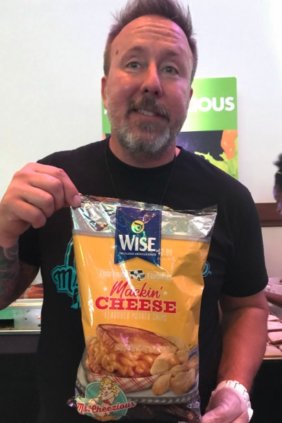 Brian Mullins and the special Wise Mackin' Cheese potato chips