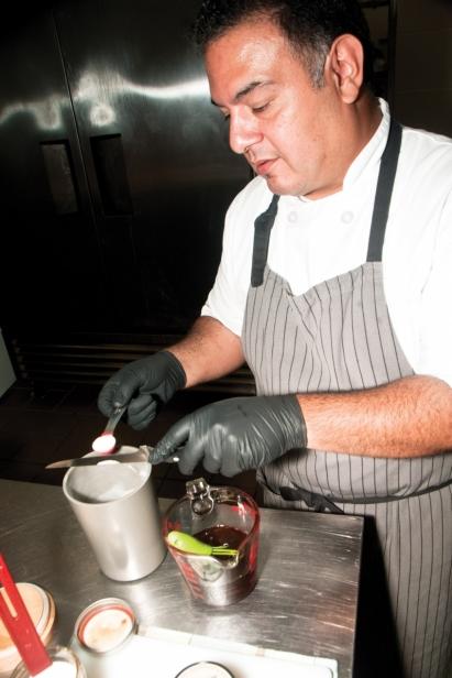 Bautista measures ingredients for preserves
