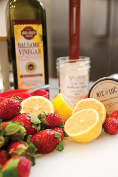 Fresh ingredients go into Nic & Luc Small Batch Provisions