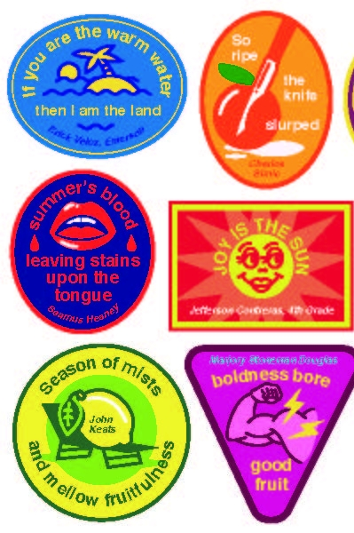 Poetry fruit stickers