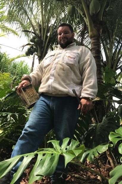 Beekeeper Roger Blanco