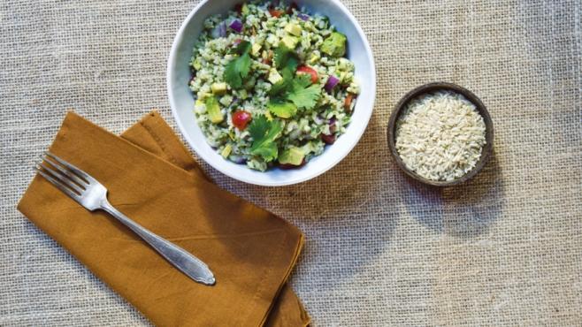 Summer Salad Brown Rice Salad