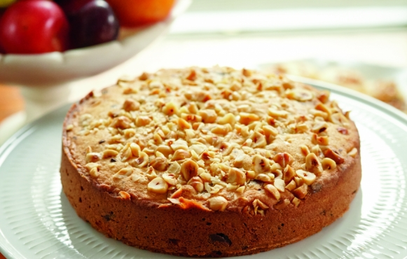 Almond Torte with Chocolate Chips