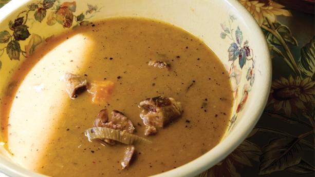 Chunky Sweet Potato and Sausage Soup