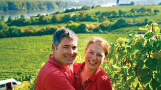 Ninth-generation winemaker Klaus Peter Keller and his wife, Julia.