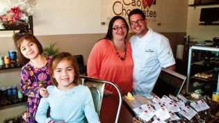 Trillos family at Cao Chocolates store
