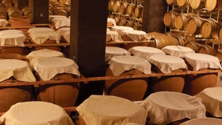 Wines stored in clay pots for six to eight months