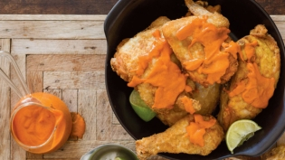 Charles Phan's Hard Water Chicken with Sriracha Butter