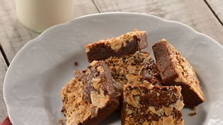 Turrón Studded Chilled Chocolate Brownies (Photo: Debi Harbin)