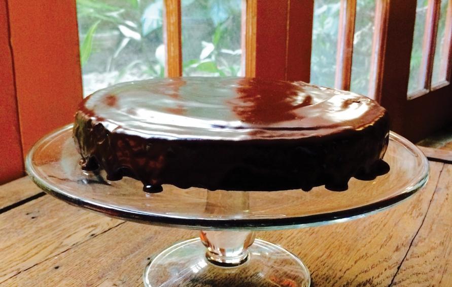 Deep Dark Chocolate Cake With Amaretto Ganache Edible